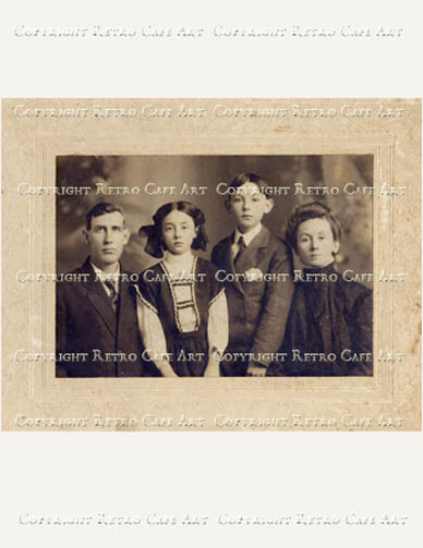 The Turner Family Cabinet Card Digital Image