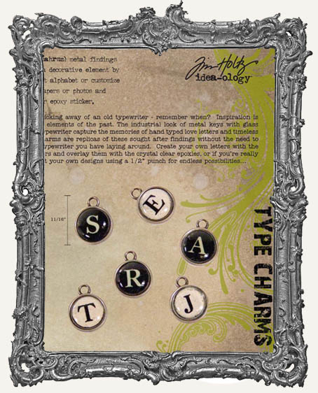 Type Charms by Tim Holtz Vintage Inspired Typewriter Key Charms