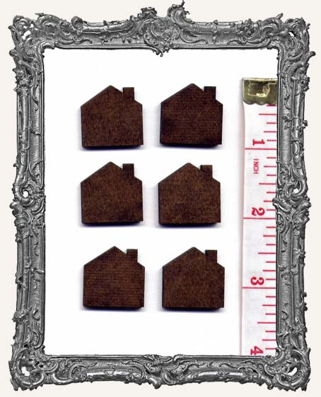 Tiny Masonite Houses - Set of 6