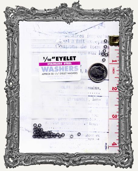 """1/16"""" Eyelet Washers - Silver"""