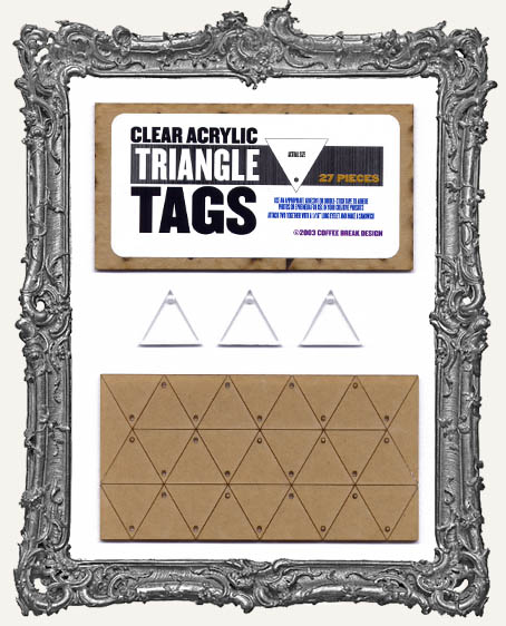 Clear Acrylic Tags - TRIANGLES