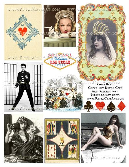 Vegas Baby Collage Sheet