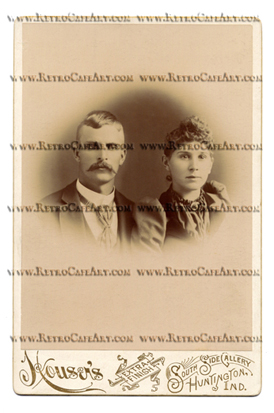 William and Anna Cabinet Card Digital Image