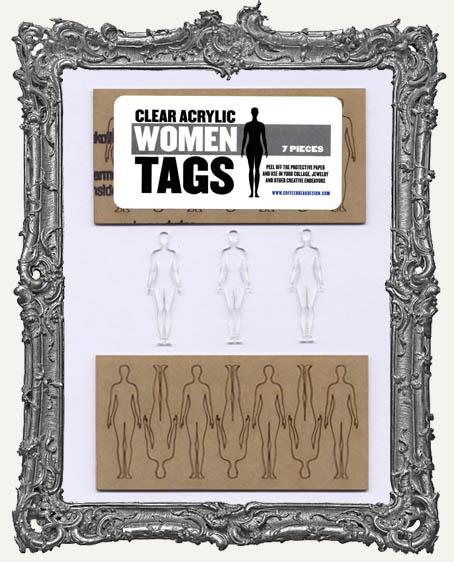 Clear Acrylic Tags - WOMEN