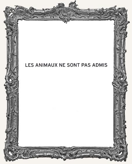Coffee Break Design - Les Animaux Ne Sont Pas Admis Stamp