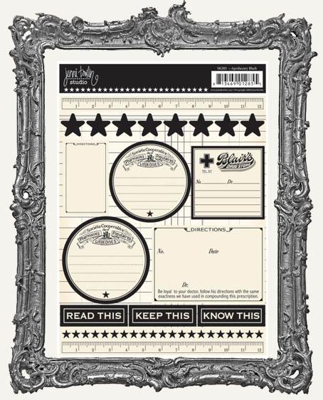 Jenni Bowlin Studio Apothecary Cardstock STICKERS - Black
