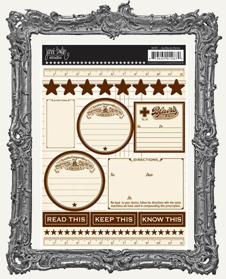 Jenni Bowlin Studio Apothecary Cardstock STICKERS - Brown
