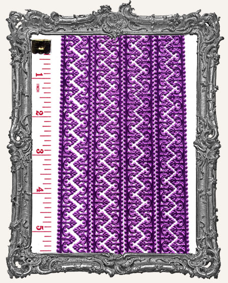 German Dresden Border Baroque FUSCHIA 8 Strips