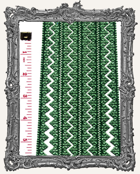 German Dresden Border Baroque GREEN 8 Strips
