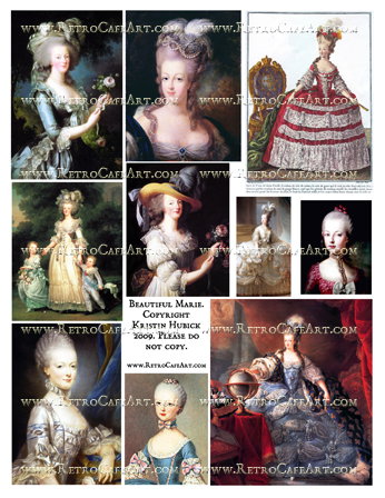 Beautiful Marie Antoinette Collage Sheet