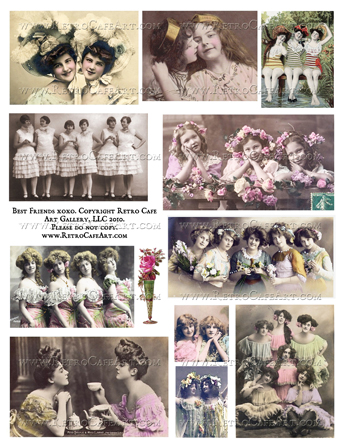 Best Friends xoxo Collage Sheet