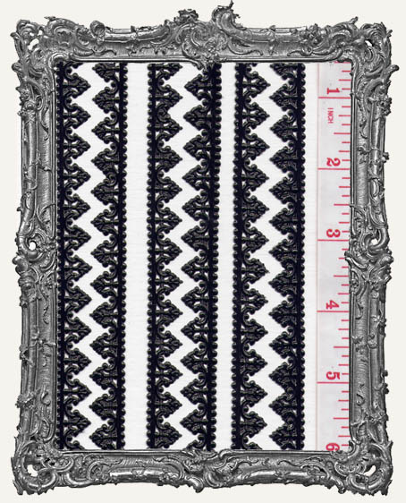German Dresden Border Baroque BLACK 8 Strips