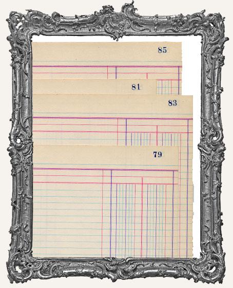 Blank Vintage Ledger Paper - 2 sheets