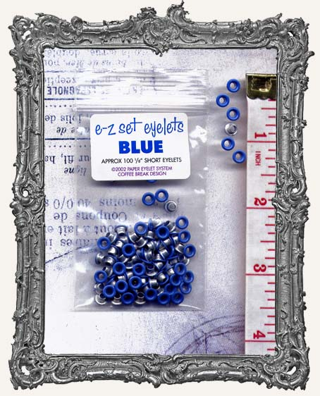 "E-Z Set Eyelets - 1/8"" Short Blue"