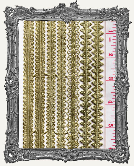 German Dresden Border Assorted Design GOLD 7 Strips
