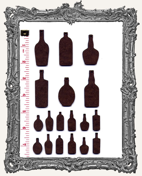 Potion Bottles and Label Stickers Set WITH CHARM HOLES