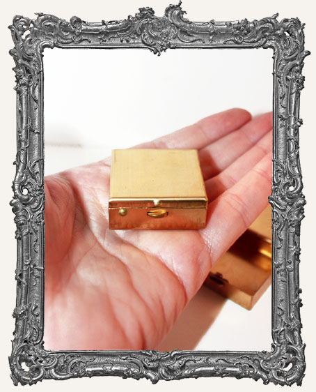 Brass Square Treasure Box