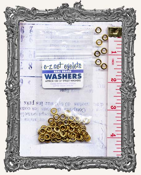 """1/8"""" Eyelet Washers - Brass OR Silver"""