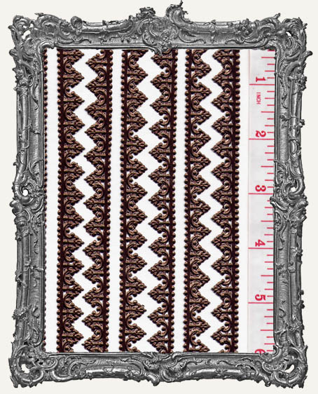 German Dresden Border Baroque BROWN 8 Strips