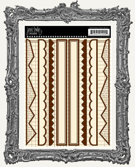 Jenni Bowlin Studio Border Cardstock STICKERS - Brown