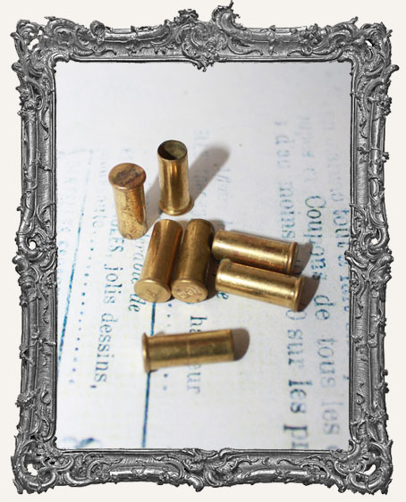 Old Empty Brass Bullet Casings - Set of 4