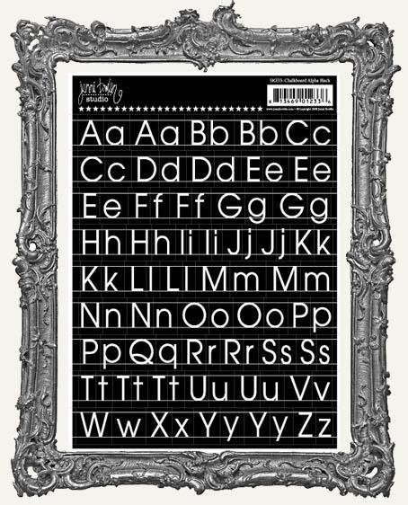 Jenni Bowlin Studio Chalkboard Cardstock Alpha STICKERS - Black