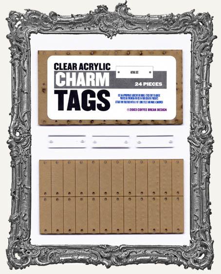 Clear Acrylic Tags - CHARMS