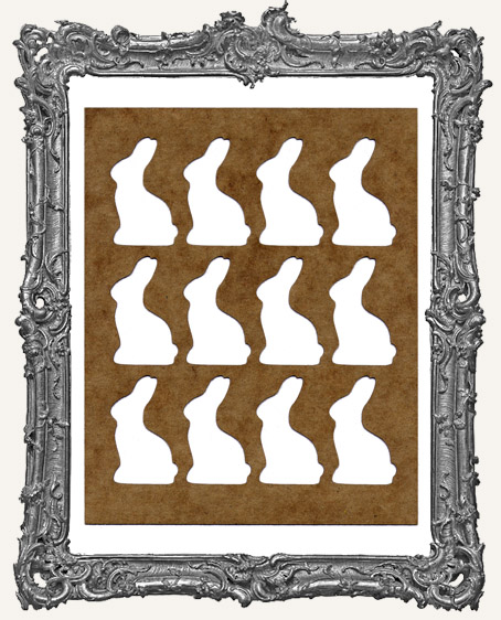 SMALL Chocolate Bunny Background