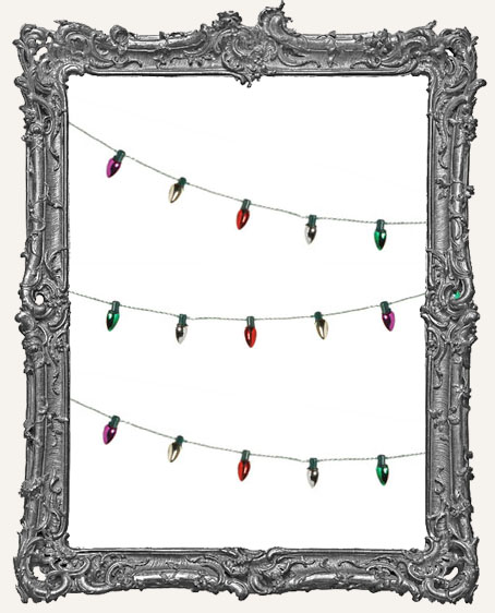 Mini Christmas Light Garland METALLIC - 6 Feet