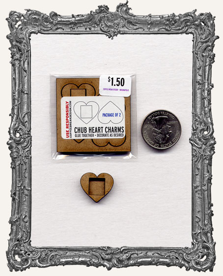 HEART Charm El Tiny Trinket PACKAGE OF 2