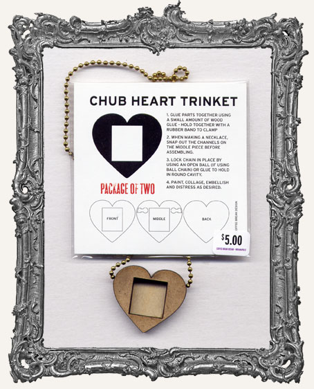 Chub Heart Shrine Pendant PACKAGE OF 2