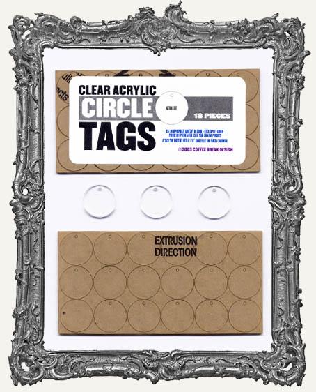 Clear Acrylic Tags - CIRCLES