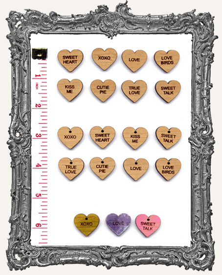 Classic Candy Heart Charms Set 1 - Pack of 8