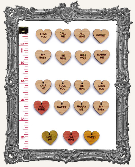 Classic Candy Heart Charms Set 2 - Pack of 8