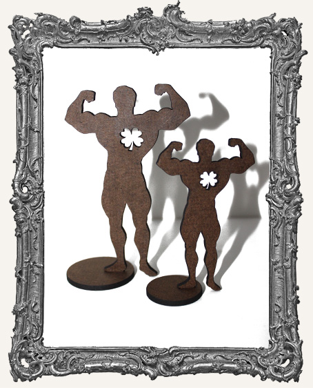 Stand Ups - Circus Muscle Man WITH 4 LEAF CLOVER