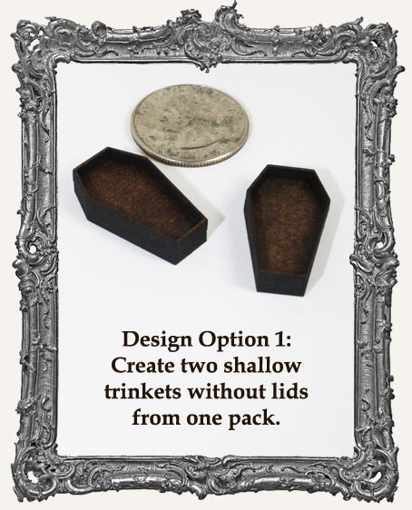 Coffin Charm El Tiny Trinket PACKAGE OF 2