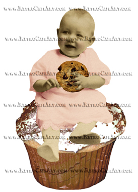 Cookie Digital Cupcake Fairy Image