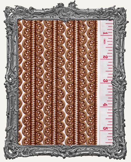 German Dresden Border Fancy Scalloped COPPER 10 Strips