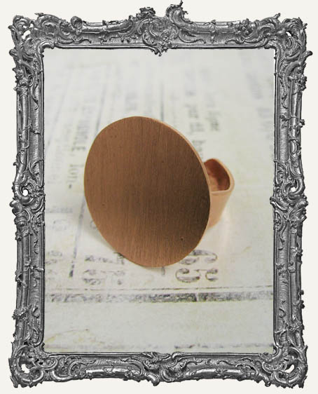 COPPER FLAT Ring Blank Adjustable CIRCLE