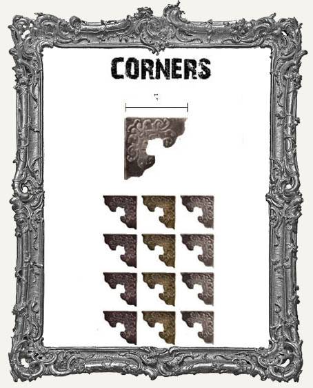 Fancy Metal Corners - Tim Holtz Pack of 12