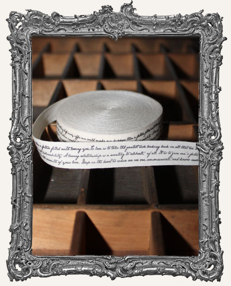 Cotton Ribbon 1 Yard - Script