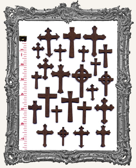 Cross Cut-Outs WITH CHARM HOLES - 24 Pieces