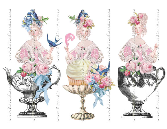 Marie Antoinette Collage Sheet # 102