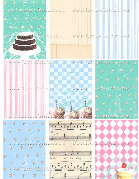 Sweet Cakes Collage Sheet by Cassandra VanCuren - CV106