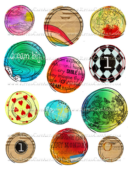 Doodle Journal Circles Collage Sheet by Cassandra VanCuren - CV110