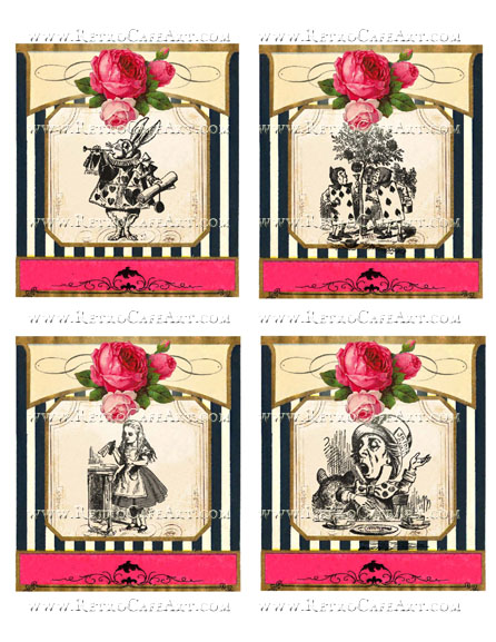 Alice In Wonderland Large Collage Sheet by Cassandra VanCuren - CV116