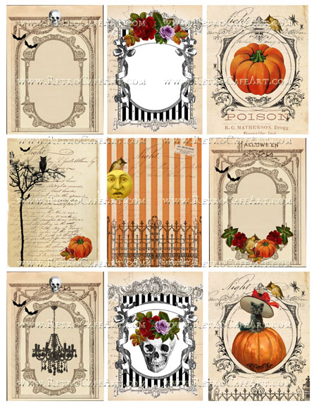 Halloween Backgrounds Collage Sheet by Cassandra VanCuren - CV127