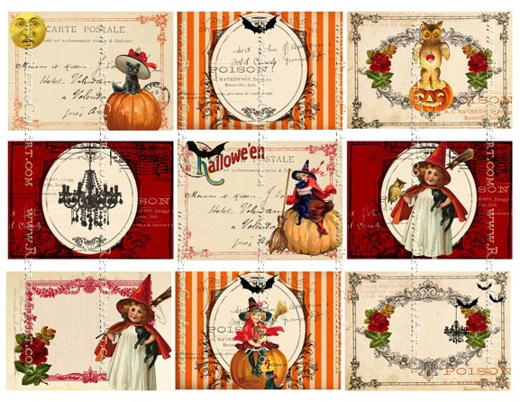 Halloween Backgrounds Collage Sheet II by Cassandra VanCuren - CV128
