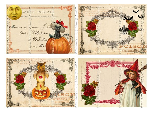 Halloween Backgrounds Large Collage Sheet by Cassandra VanCuren - CV129