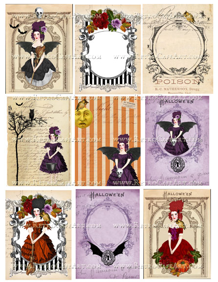 Hallow Marie Backgrounds Collage Sheet by Cassandra VanCuren - CV130
